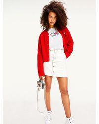 Tommy Hilfiger - White Recycled Denim A-line Skirt - Lyst