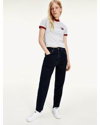 Tommy Hilfiger Mom Tapered Jeans - Blauw