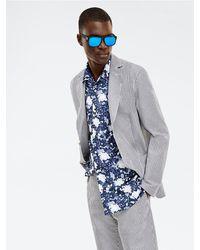 Tommy Hilfiger Slim Fit Overhemdjas - Blauw