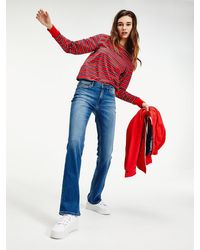 Tommy Hilfiger Maddie Bootcut Jeans Met Fading - Blauw