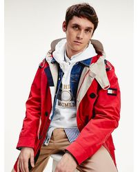 Tommy Hilfiger Icons Parka Met Capuchon - Rood