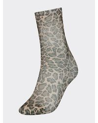 Tommy Hilfiger Chaussettes Zendaya motif léopard - Violet
