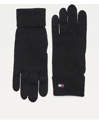 Tommy Hilfiger Essential Handschoenen Van Katoen En Kasjmier - Zwart