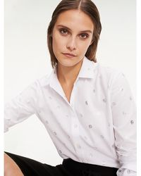 Tommy Hilfiger - Metallic Th Monogram Fitted Shirt - Lyst