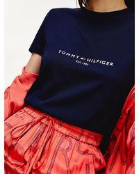 Tommy Hilfiger T-shirt Essential en coton bio - Bleu