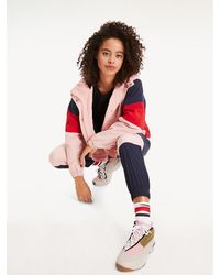 Tommy Hilfiger Relaxed Fit Windbreaker Met Colour-blocking - Roze