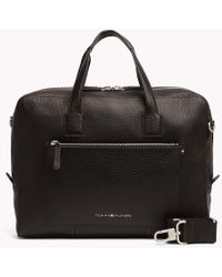 Tommy Hilfiger - Leather Computer Bag - Lyst