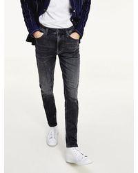 Tommy Hilfiger Simon Skinny Fit Jeans Van Stretchkatoen - Blauw