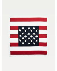 Tommy Hilfiger Silk Stars And Stripes Print Bandana - Blue