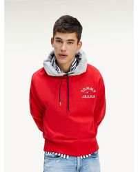Tommy Hilfiger - Contrast Hood Organic Cotton Hoody - Lyst