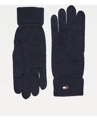 Tommy Hilfiger Essential Handschoenen Van Katoen En Kasjmier - Blauw