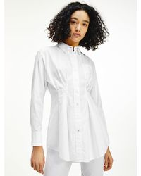 Tommy Hilfiger Tommy Icons Oversized Relaxed Fit Overhemd - Wit