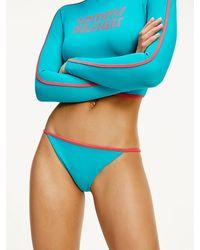 Tommy Hilfiger Bikinihose mit Kontrast-Farbe - Grün