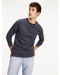 Tommy Hilfiger Original Sweater Met Logoborduring - Blauw