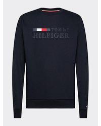Tommy Hilfiger Big & Tall Sweatshirt Van Biologisch Katoen - Blauw