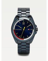 Tommy Hilfiger Geïoniseerd Blauw Stalen Horloge