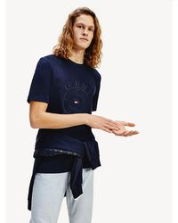 Tommy Hilfiger - Compass Logo Relaxed Fit T-shirt - Lyst