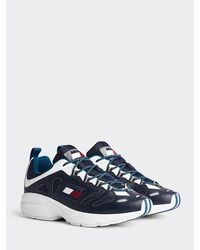 Tommy Hilfiger Heritage Sneaker Met Cut-out - Blauw