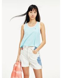 Tommy Hilfiger - Stripe Relaxed Fit Tank - Lyst
