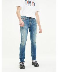 Tommy Hilfiger Scanton Slim Fit Distressed Jeans - Blauw