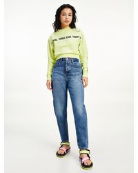 Tommy Hilfiger Ultra High Rise Tapered Mom Jeans - Blauw