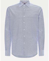 Tommy Hilfiger - Elevated Linen Blend Slim Fit Shirt - Lyst