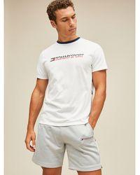 Tommy Hilfiger - Flag Tape T-shirt - Lyst