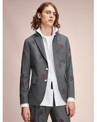 Tommy Hilfiger - Embroidered Virgin Wool Blazer - Lyst
