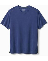 Tommy Bahama Tropicool Paradise Islandzone® V-neck T-shirt - Blue