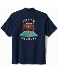 Tommy Bahama Nfl Tropical Touchdown Camp Shirt - Blue