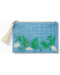 Tommy Bahama Island Palm Zip Pouch - Blue