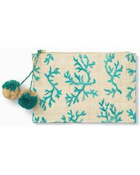 Tommy Bahama Coral Zippered Pouch - Multicolor