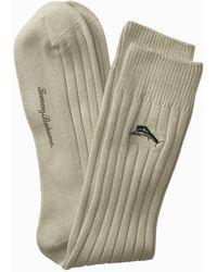Tommy Bahama Modal Rib Socks - Natural