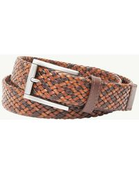 Tommy Bahama - Braided Tricolor Leather Belt - Lyst