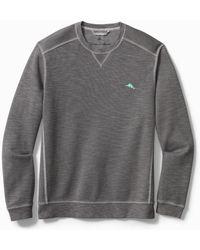 Tommy Bahama Big & Tall Tobago Bay Crewneck Sweatshirt - Gray