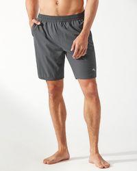 Tommy Bahama Monterey Coast 9-inch Swim Shorts - Gray