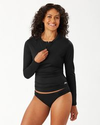 Tommy Bahama Pearl Half-zip Rash Guard - Black