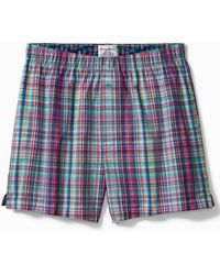 Tommy Bahama Big & Tall Plaid Print Woven Boxers - Red