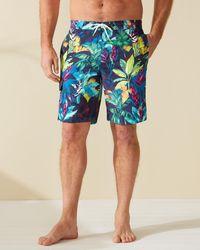 Tommy Bahama Big & Tall Baja Fuego Palms Board Shorts - Blue