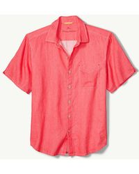 Tommy Bahama - Big & Tall Sea Glass Breezer Linen Camp Shirt - Lyst
