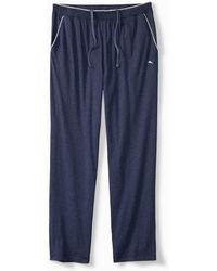 Tommy Bahama Heathered Cotton-modal Lounge Pants - Blue