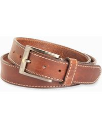Tommy Bahama Heavy Stitch Leather Belt - Brown