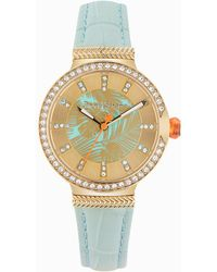 Tommy Bahama Gold-toned Woven Fronds Watch With Swarovski® Crystals - Metallic