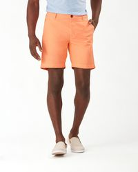 Tommy Bahama Chip Shot Islandzone® 8-inch Oxford Shorts - Orange