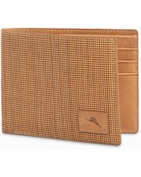 Tommy Bahama Wood-sliced Billfold Wallet - Brown