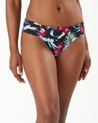 Tommy Bahama Midnight Orchid Reversible Hipster Bikini Bottoms - Black