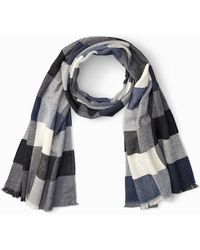 Tommy Bahama Plaid Wool Scarf - Multicolor