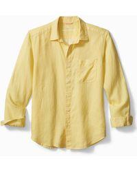 Tommy Bahama Sea Glass Breezer Linen Shirt - Yellow