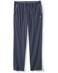 Tommy Bahama Big & Tall Heathered Cotton-modal Lounge Pants - Blue