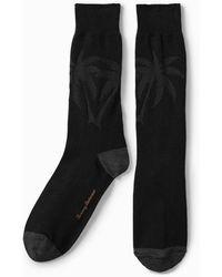 Tommy Bahama Reflection Texture Palm Socks - Black